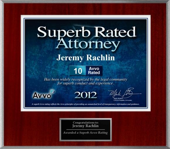 Avvo 10.0 Jeremy Rachlin