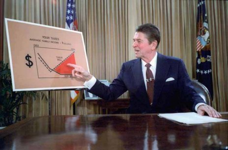 President Reagan certainly had something to say about taxes.