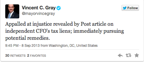 Mayor Gray Tweet