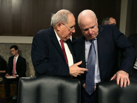 """Apple sought the holy grail of tax avoidance,"" said Senator Carl Levin, left, a Michigan Democrat. Credit: Getty Images"